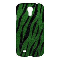 Skin3 Black Marble & Green Leather (r) Samsung Galaxy S4 I9500/i9505 Hardshell Case by trendistuff