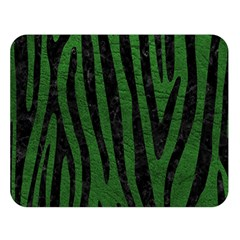 Skin4 Black Marble & Green Leather Double Sided Flano Blanket (large)  by trendistuff
