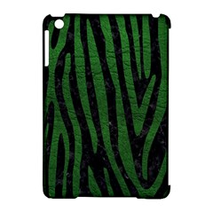 Skin4 Black Marble & Green Leather (r) Apple Ipad Mini Hardshell Case (compatible With Smart Cover) by trendistuff