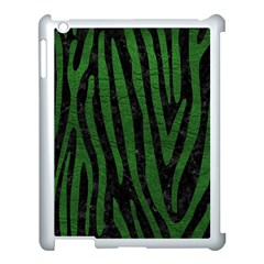 Skin4 Black Marble & Green Leather (r) Apple Ipad 3/4 Case (white) by trendistuff