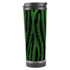 Skin4 Black Marble & Green Leather (r) Travel Tumbler