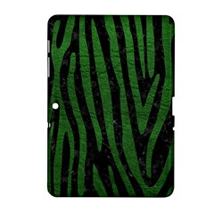 Skin4 Black Marble & Green Leather (r) Samsung Galaxy Tab 2 (10 1 ) P5100 Hardshell Case  by trendistuff