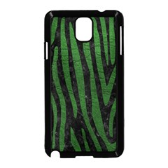 Skin4 Black Marble & Green Leather (r) Samsung Galaxy Note 3 Neo Hardshell Case (black) by trendistuff