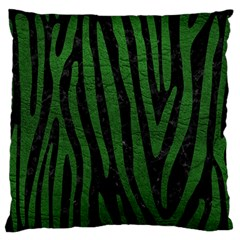 Skin4 Black Marble & Green Leather (r) Large Flano Cushion Case (two Sides) by trendistuff