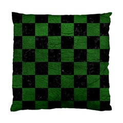 Square1 Black Marble & Green Leather Standard Cushion Case (one Side) by trendistuff