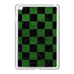 Square1 Black Marble & Green Leather Apple Ipad Mini Case (white) by trendistuff