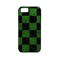 Square1 Black Marble & Green Leather Apple Iphone 5 Classic Hardshell Case (pc+silicone) by trendistuff