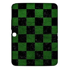 Square1 Black Marble & Green Leather Samsung Galaxy Tab 3 (10 1 ) P5200 Hardshell Case  by trendistuff