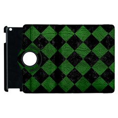 Square2 Black Marble & Green Leather Apple Ipad 3/4 Flip 360 Case by trendistuff