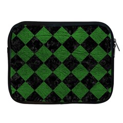 Square2 Black Marble & Green Leather Apple Ipad 2/3/4 Zipper Cases by trendistuff