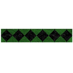 Square2 Black Marble & Green Leather Flano Scarf (large)