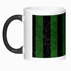 Stripes1 Black Marble & Green Leather Morph Mugs by trendistuff