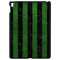 Stripes1 Black Marble & Green Leather Apple Ipad Pro 9 7   Black Seamless Case by trendistuff
