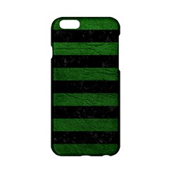 Stripes2 Black Marble & Green Leather Apple Iphone 6/6s Hardshell Case by trendistuff