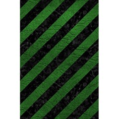 Stripes3 Black Marble & Green Leather 5 5  X 8 5  Notebooks by trendistuff