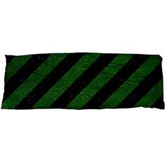 Stripes3 Black Marble & Green Leather Body Pillow Case Dakimakura (two Sides) by trendistuff