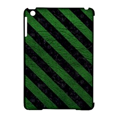 Stripes3 Black Marble & Green Leather (r) Apple Ipad Mini Hardshell Case (compatible With Smart Cover) by trendistuff