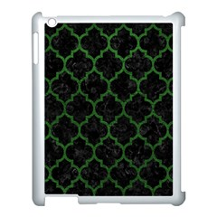 Tile1 Black Marble & Green Leather Apple Ipad 3/4 Case (white) by trendistuff