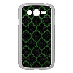 Tile1 Black Marble & Green Leather Samsung Galaxy Grand Duos I9082 Case (white) by trendistuff