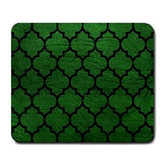 Tile1 Black Marble & Green Leather (r) Large Mousepads by trendistuff