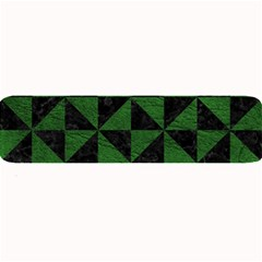 Triangle1 Black Marble & Green Leather Large Bar Mats