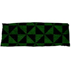 Triangle1 Black Marble & Green Leather Body Pillow Case Dakimakura (two Sides) by trendistuff