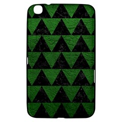 Triangle2 Black Marble & Green Leather Samsung Galaxy Tab 3 (8 ) T3100 Hardshell Case  by trendistuff