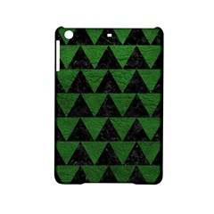 Triangle2 Black Marble & Green Leather Ipad Mini 2 Hardshell Cases by trendistuff