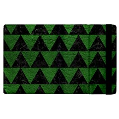 Triangle2 Black Marble & Green Leather Apple Ipad Pro 9 7   Flip Case by trendistuff