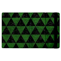 Triangle3 Black Marble & Green Leather Apple Ipad 2 Flip Case by trendistuff