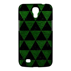 Triangle3 Black Marble & Green Leather Samsung Galaxy Mega 6 3  I9200 Hardshell Case by trendistuff