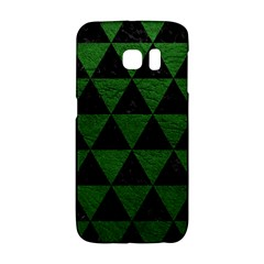 Triangle3 Black Marble & Green Leather Galaxy S6 Edge by trendistuff