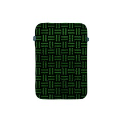 Woven1 Black Marble & Green Leather Apple Ipad Mini Protective Soft Cases by trendistuff
