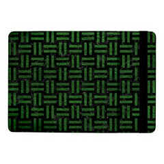 Woven1 Black Marble & Green Leather Samsung Galaxy Tab Pro 10 1  Flip Case by trendistuff