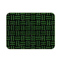 Woven1 Black Marble & Green Leather Double Sided Flano Blanket (mini)  by trendistuff