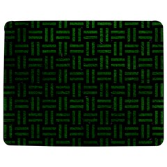 Woven1 Black Marble & Green Leather Jigsaw Puzzle Photo Stand (rectangular) by trendistuff