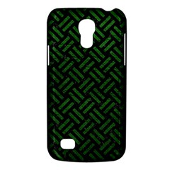 Woven2 Black Marble & Green Leather Galaxy S4 Mini by trendistuff