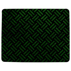 Woven2 Black Marble & Green Leather Jigsaw Puzzle Photo Stand (rectangular) by trendistuff