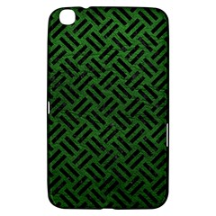 Woven2 Black Marble & Green Leather (r) Samsung Galaxy Tab 3 (8 ) T3100 Hardshell Case  by trendistuff