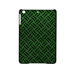 Woven2 Black Marble & Green Leather (r) Ipad Mini 2 Hardshell Cases by trendistuff