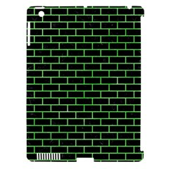 Brick1 Black Marble & Green Watercolor Apple Ipad 3/4 Hardshell Case (compatible With Smart Cover) by trendistuff