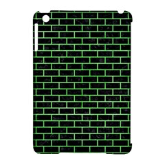 Brick1 Black Marble & Green Watercolor Apple Ipad Mini Hardshell Case (compatible With Smart Cover) by trendistuff