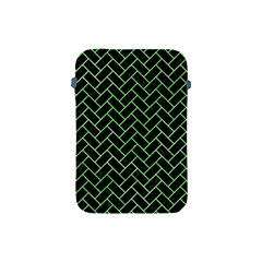 Brick2 Black Marble & Green Watercolor Apple Ipad Mini Protective Soft Cases by trendistuff
