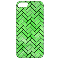 Brick2 Black Marble & Green Watercolor (r) Apple Iphone 5 Classic Hardshell Case