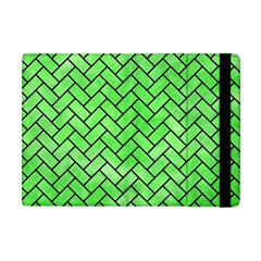 Brick2 Black Marble & Green Watercolor (r) Apple Ipad Mini Flip Case by trendistuff