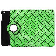 Brick2 Black Marble & Green Watercolor (r) Apple Ipad Mini Flip 360 Case by trendistuff
