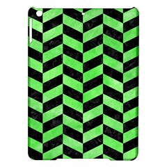 Chevron1 Black Marble & Green Watercolor Ipad Air Hardshell Cases by trendistuff