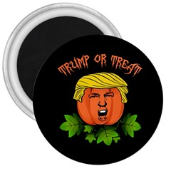 Trump Or Treat  3  Magnets by Valentinaart