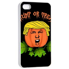 Trump Or Treat  Apple Iphone 4/4s Seamless Case (white) by Valentinaart