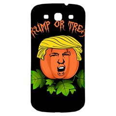 Trump Or Treat  Samsung Galaxy S3 S Iii Classic Hardshell Back Case by Valentinaart